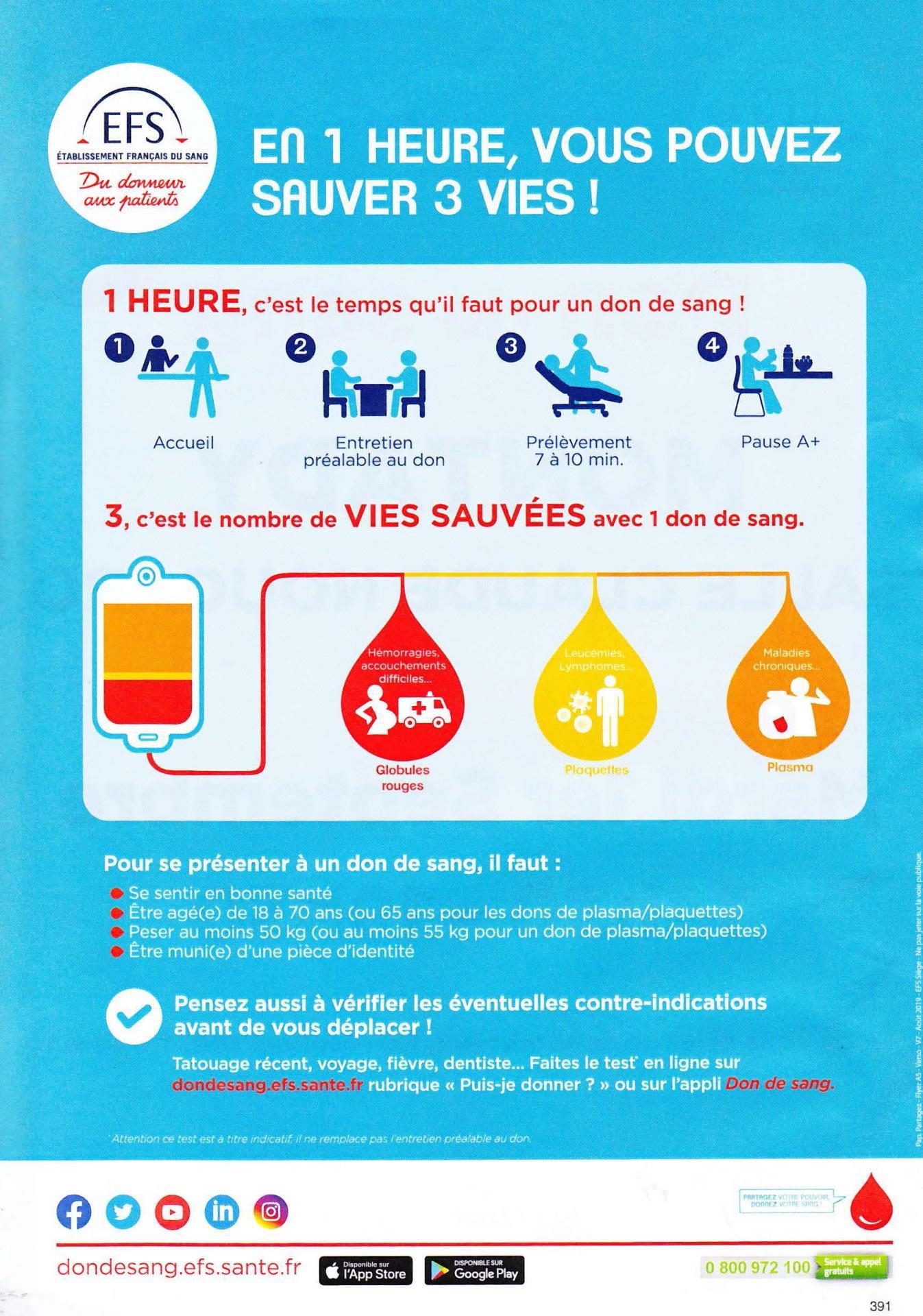 Visuel sauver 3 vies en 1 heure 1